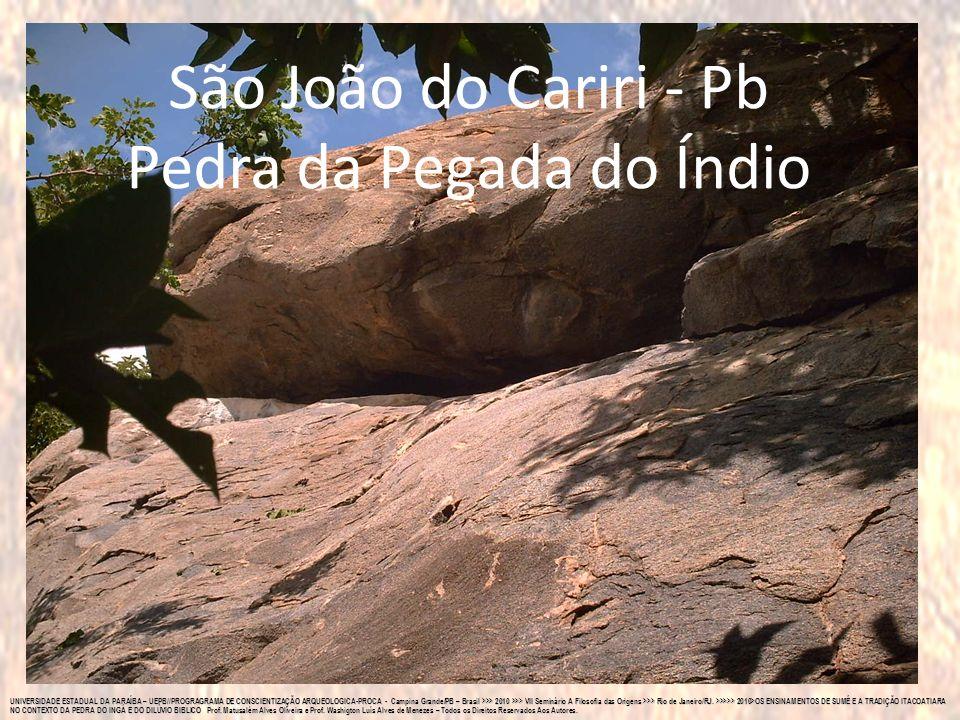 São João do Cariri - Pb Pedra da Pegada do Índio