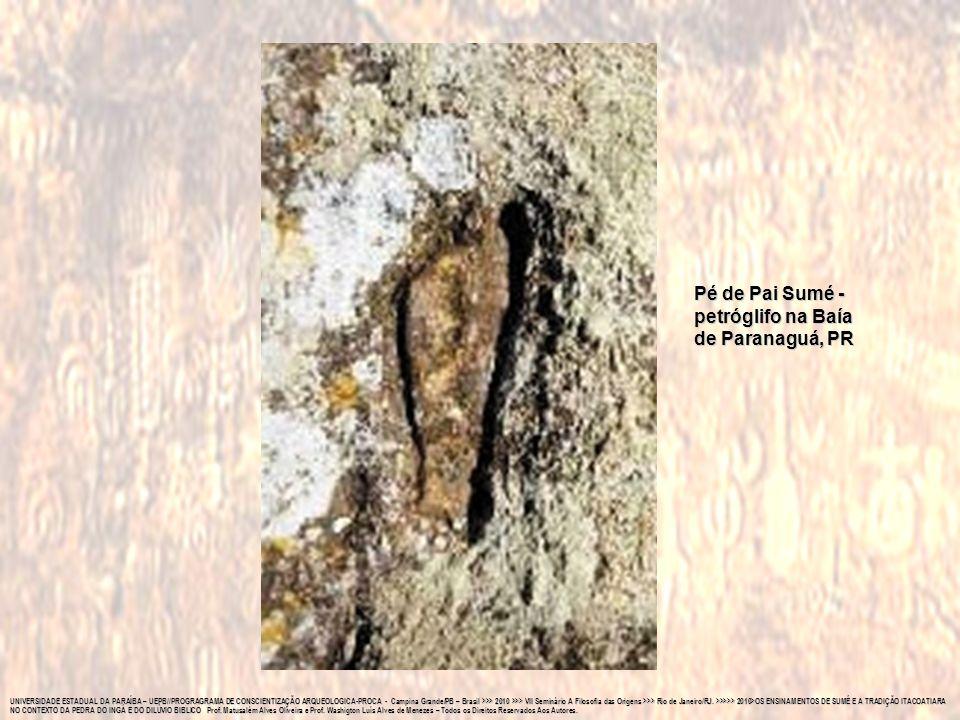Pé de Pai Sumé - petróglifo na Baía de Paranaguá, PR