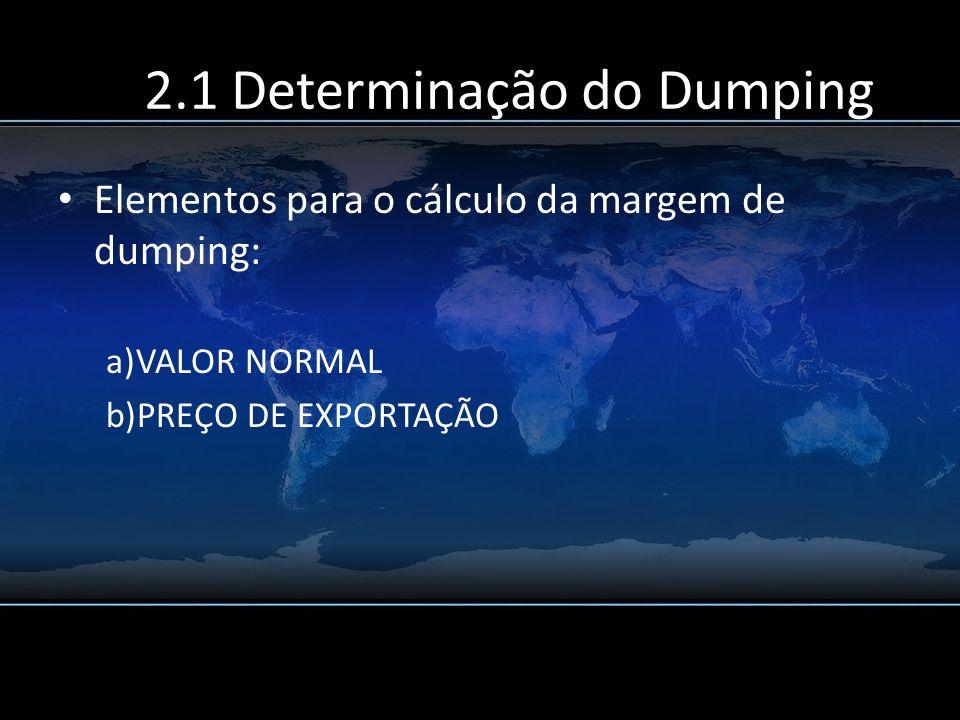 2.1 Determinação do Dumping