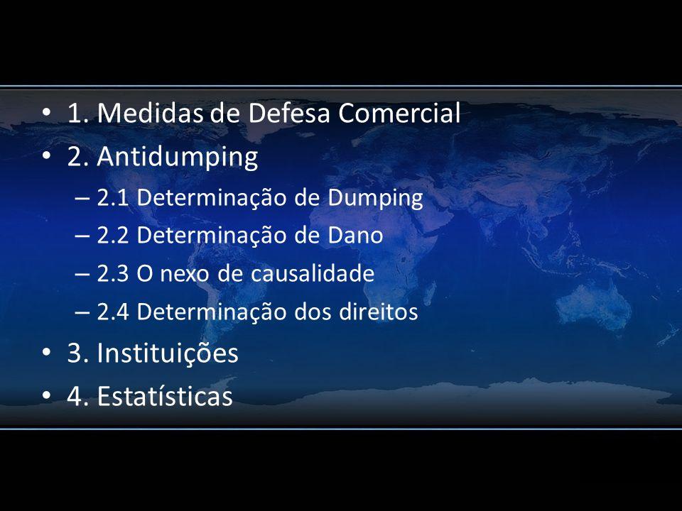 1. Medidas de Defesa Comercial 2. Antidumping