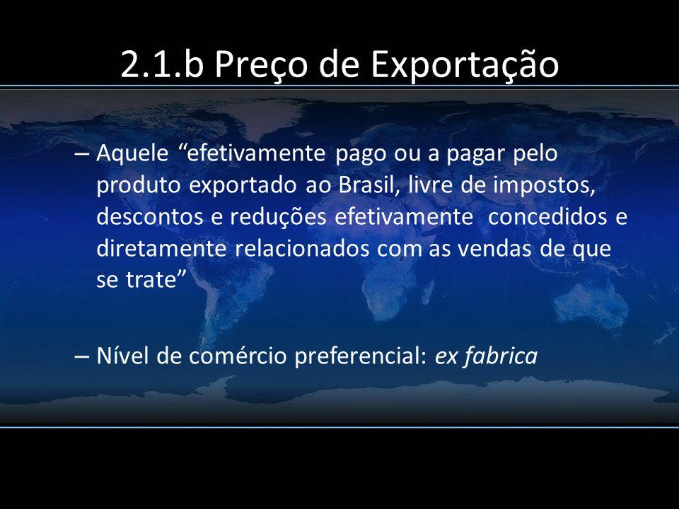 2.1.b Preço de Exportação