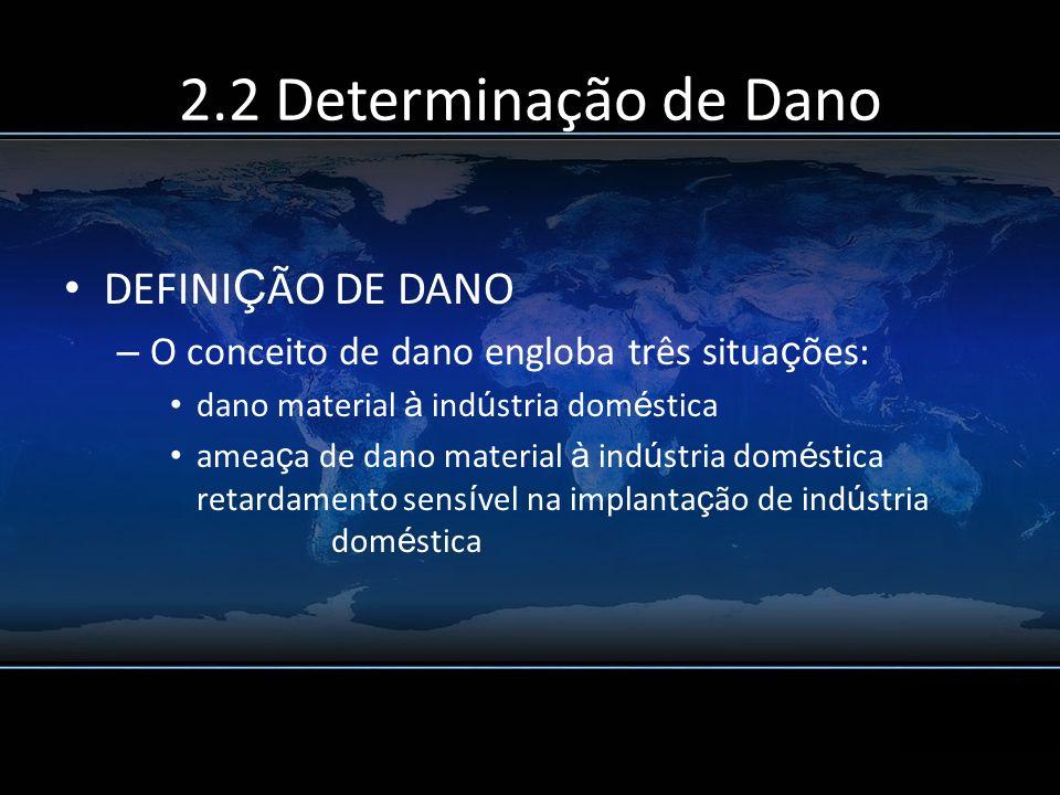 2.2 Determinação de Dano DEFINIÇÃO DE DANO