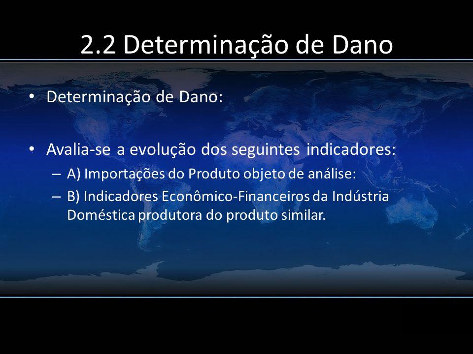 2.2 Determinação de Dano Determinação de Dano: