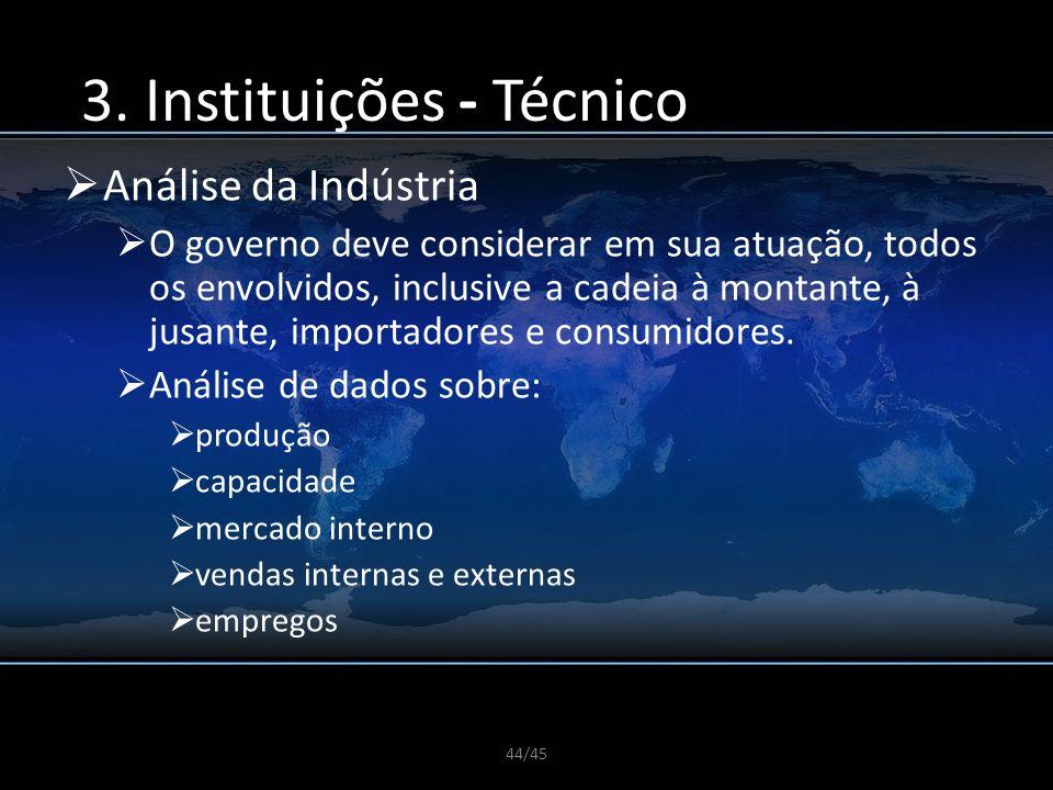 3. Instituições - Técnico