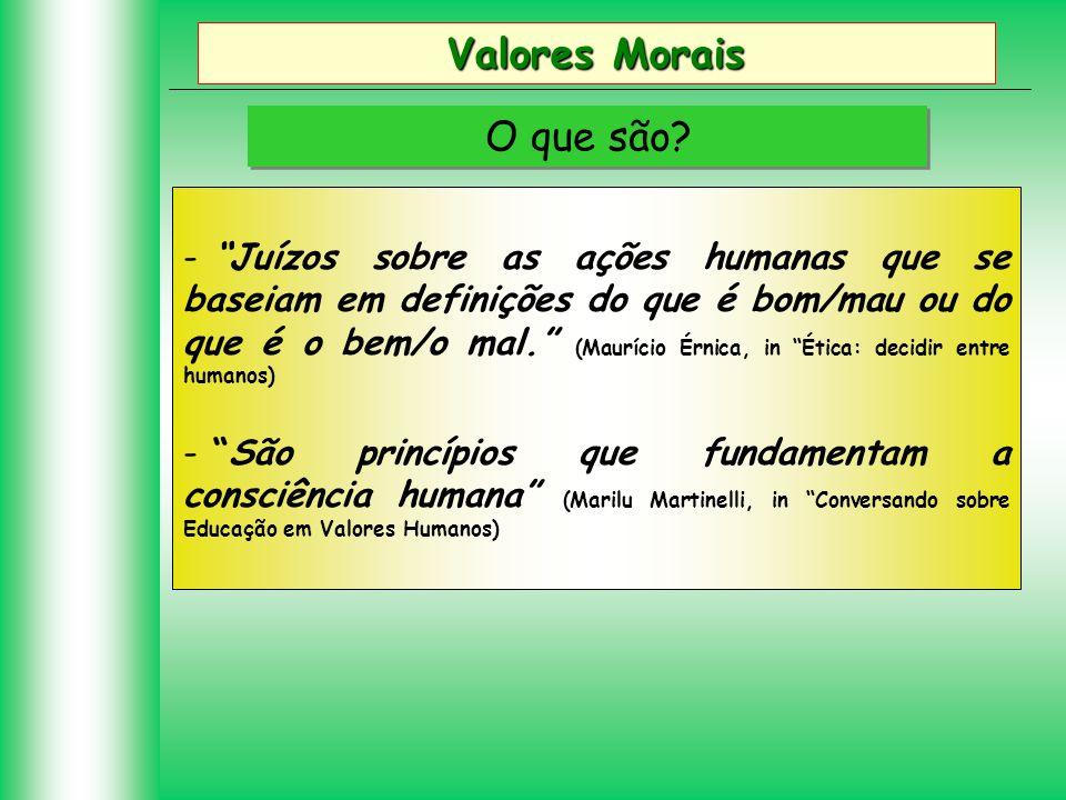 Valores Morais O que são