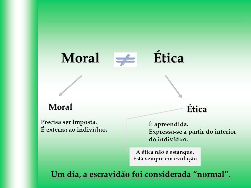A ética não é estanque. Está sempre em evolução