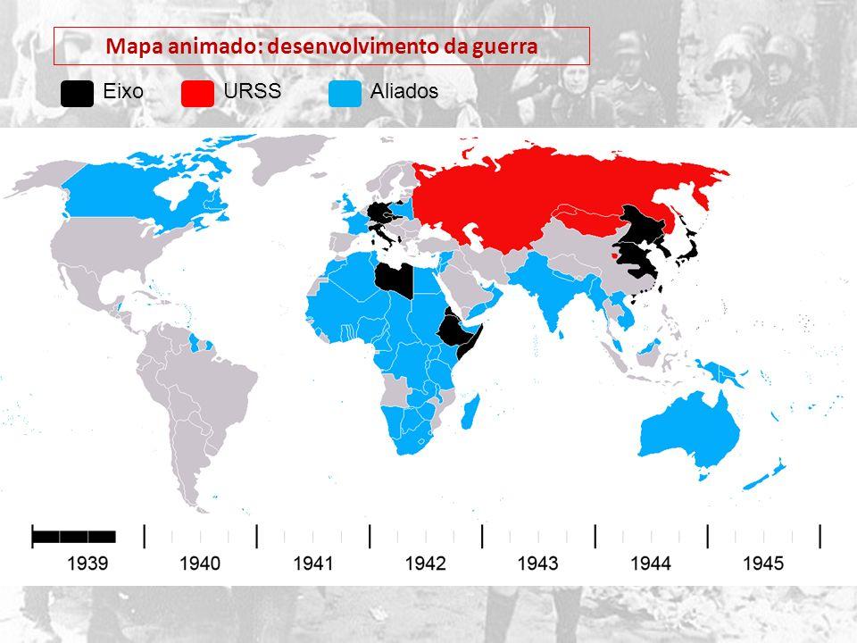 Mapa animado: desenvolvimento da guerra