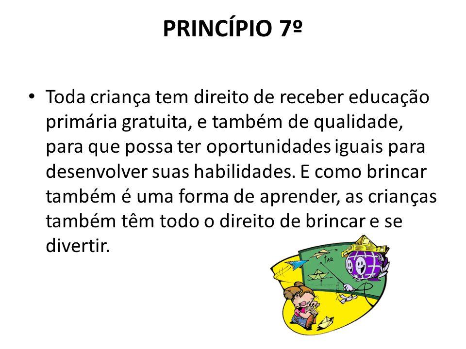 PRINCÍPIO 7º
