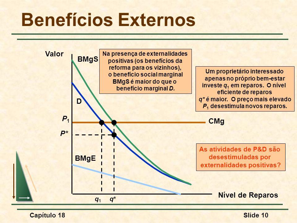 Benefícios Externos Valor BMgS D P1 CMg P* BMgE Nível de Reparos q* q1