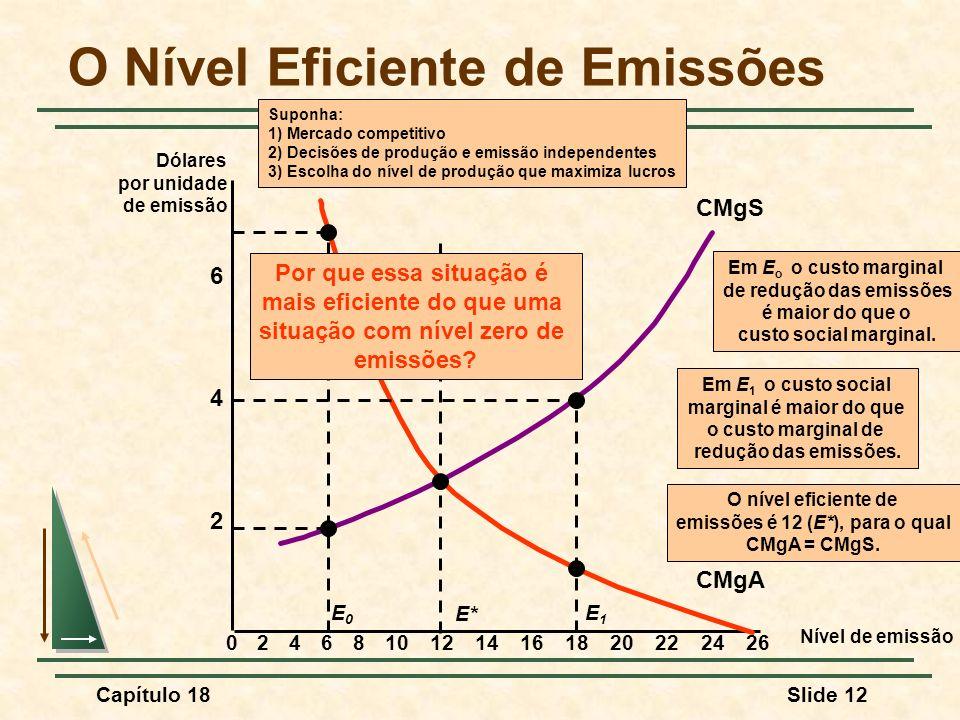 O Nível Eficiente de Emissões