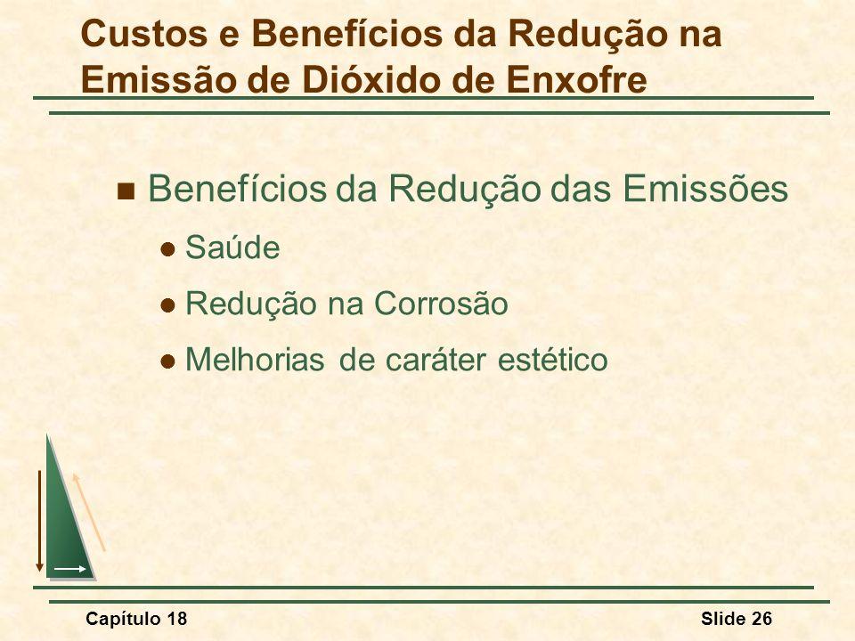 Custos e Benefícios da Redução na Emissão de Dióxido de Enxofre