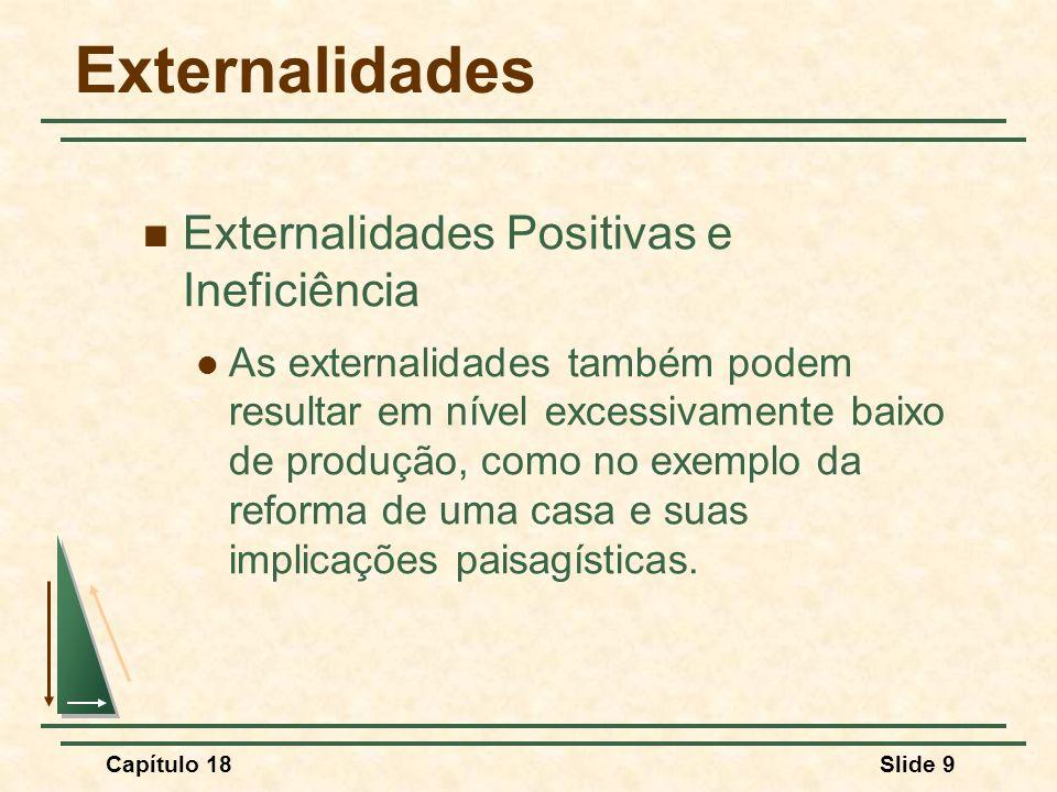 Externalidades Externalidades Positivas e Ineficiência