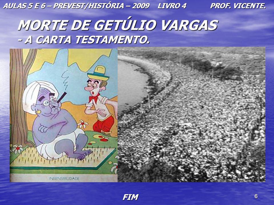 MORTE DE GETÚLIO VARGAS - A CARTA TESTAMENTO.