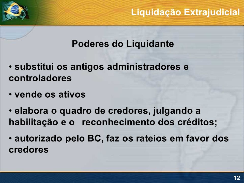 Liquidação Extrajudicial