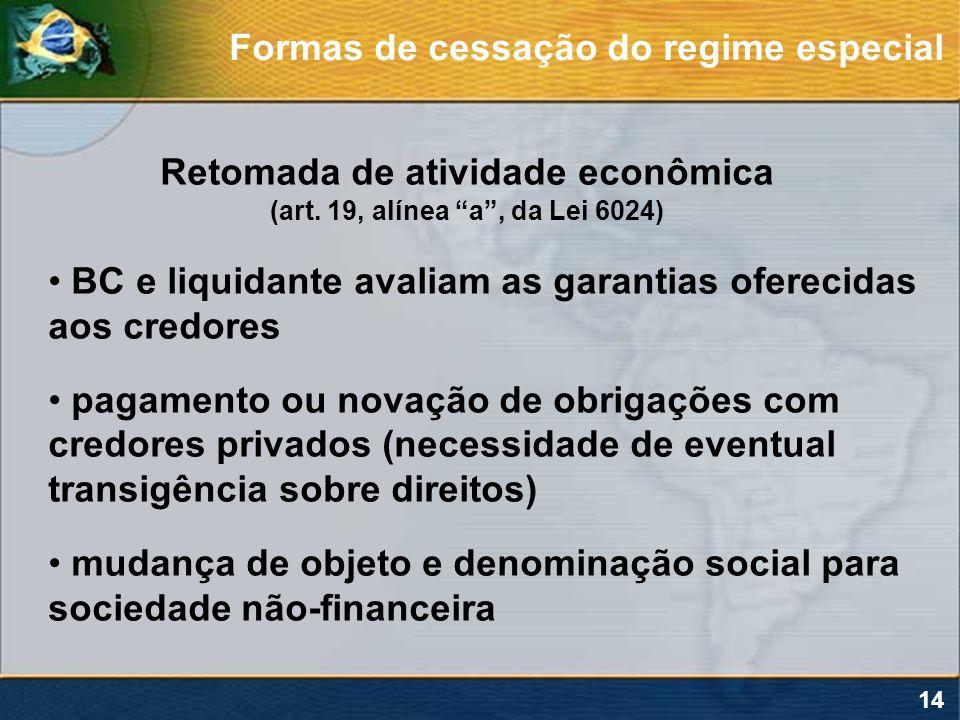 Retomada de atividade econômica