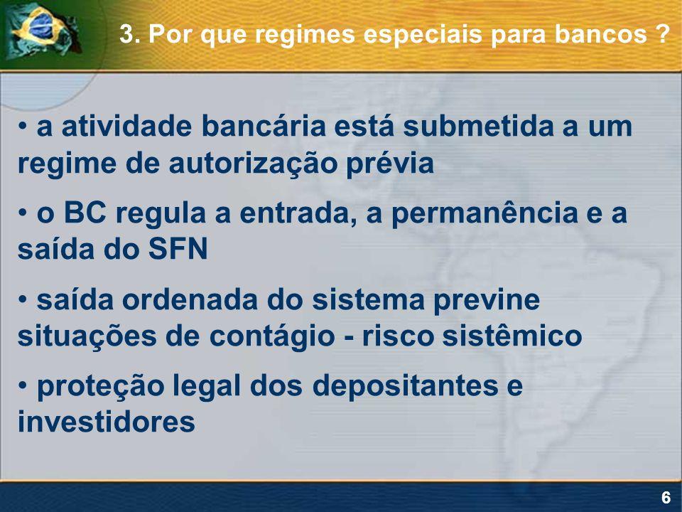 a atividade bancária está submetida a um regime de autorização prévia