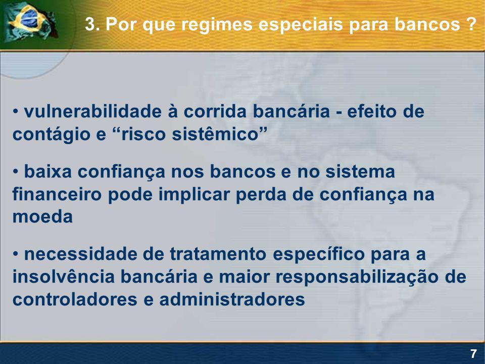 3. Por que regimes especiais para bancos