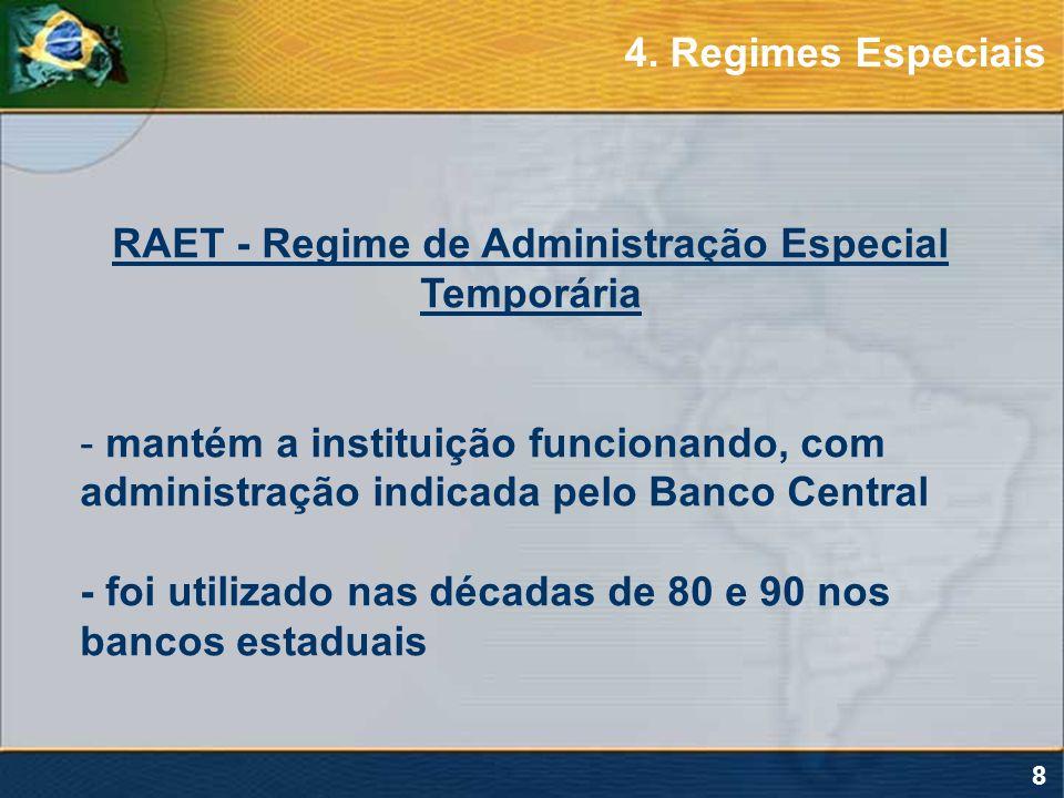 RAET - Regime de Administração Especial Temporária