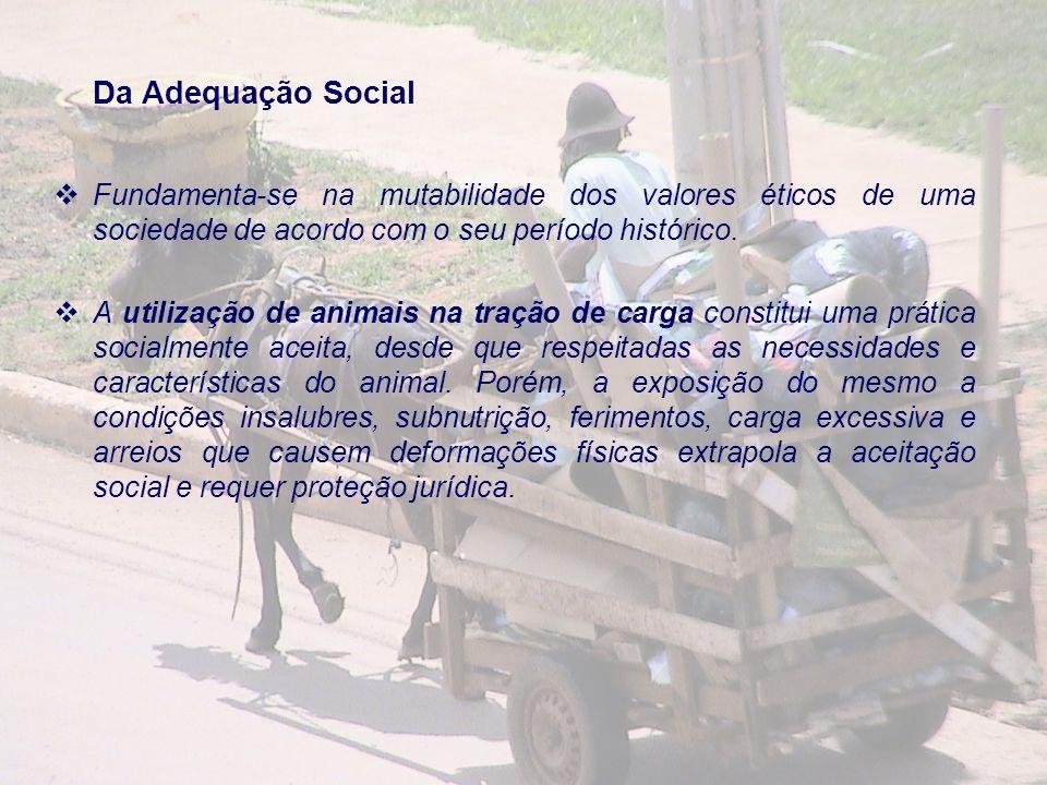 Da Adequação Social Fundamenta-se na mutabilidade dos valores éticos de uma sociedade de acordo com o seu período histórico.