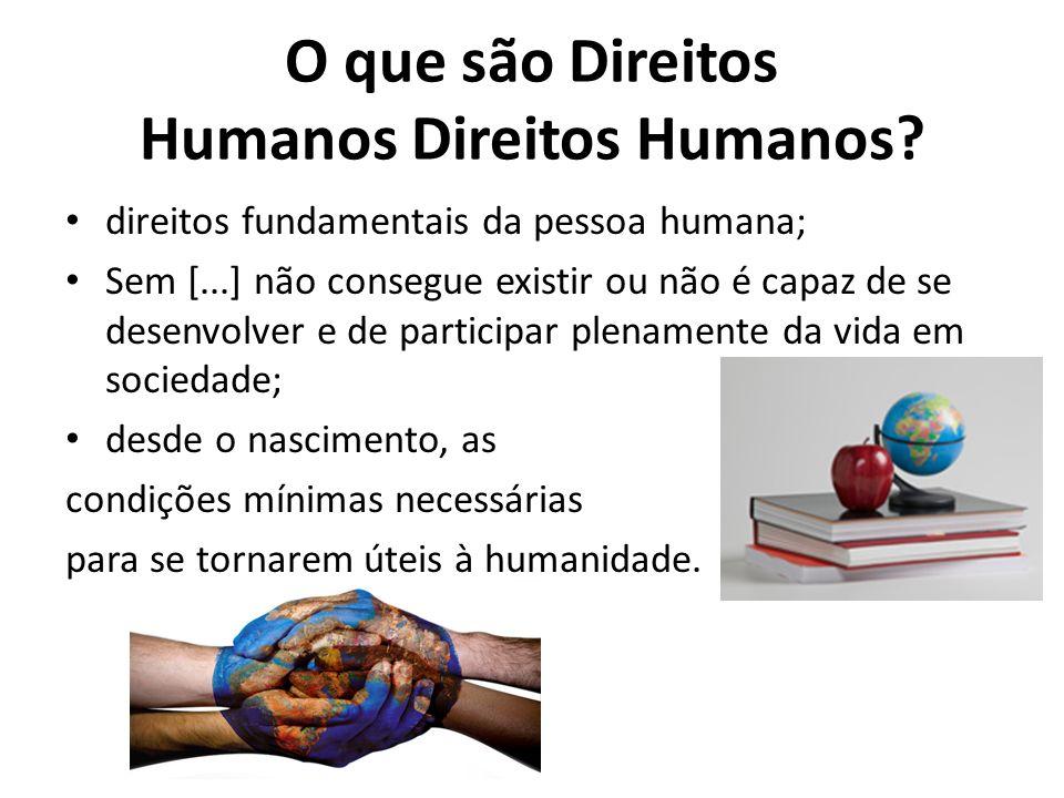 O que são Direitos Humanos Direitos Humanos