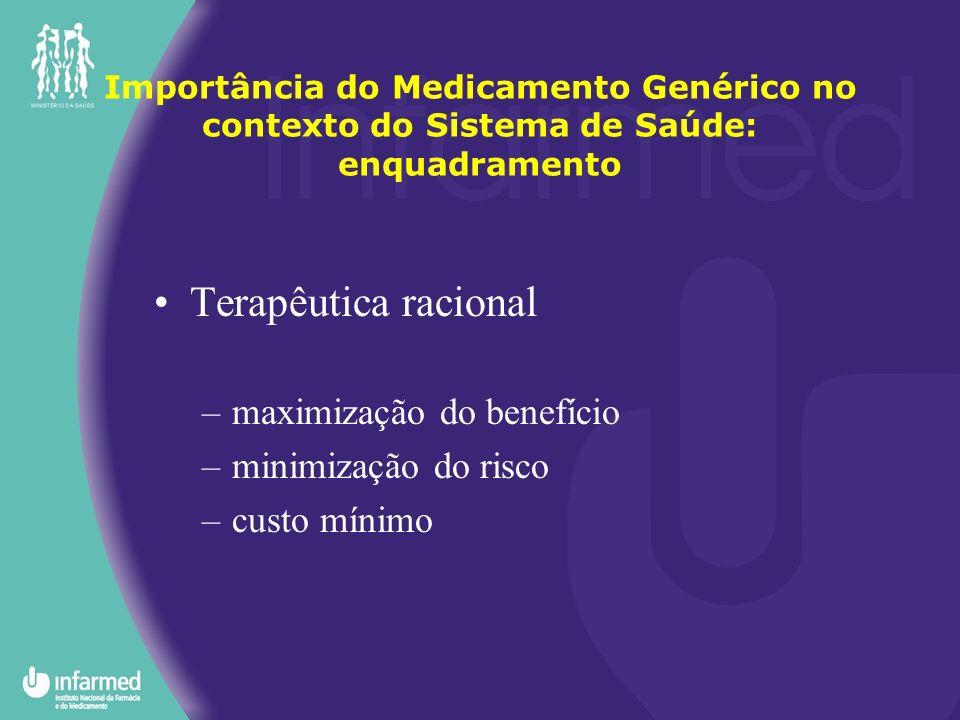 Terapêutica racional maximização do benefício minimização do risco