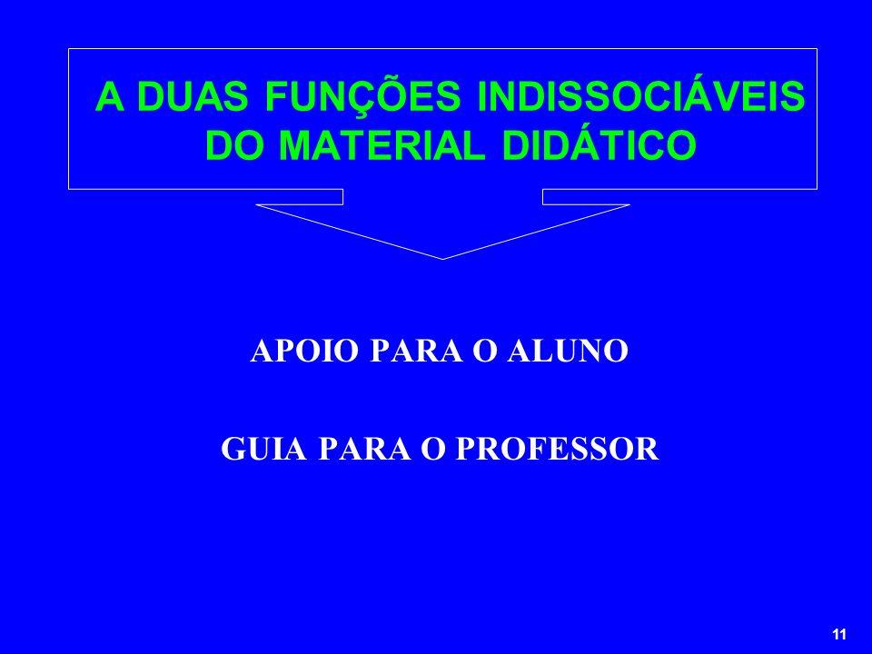 A DUAS FUNÇÕES INDISSOCIÁVEIS DO MATERIAL DIDÁTICO