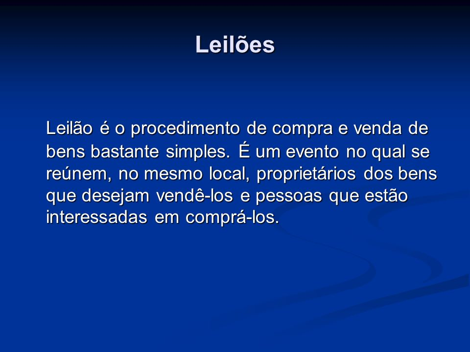 Leilões