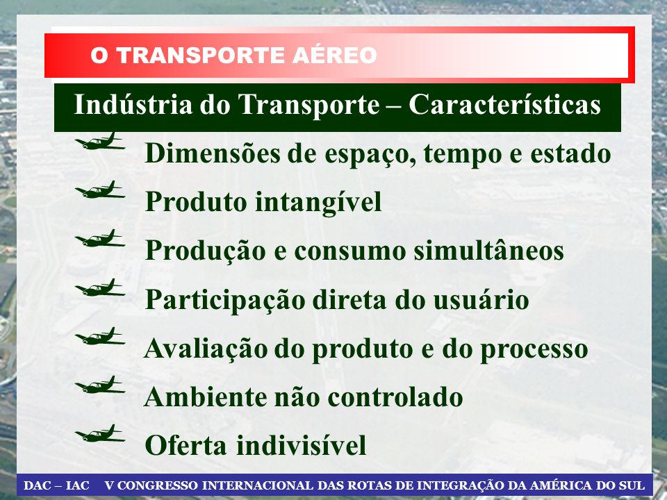 Indústria do Transporte – Características