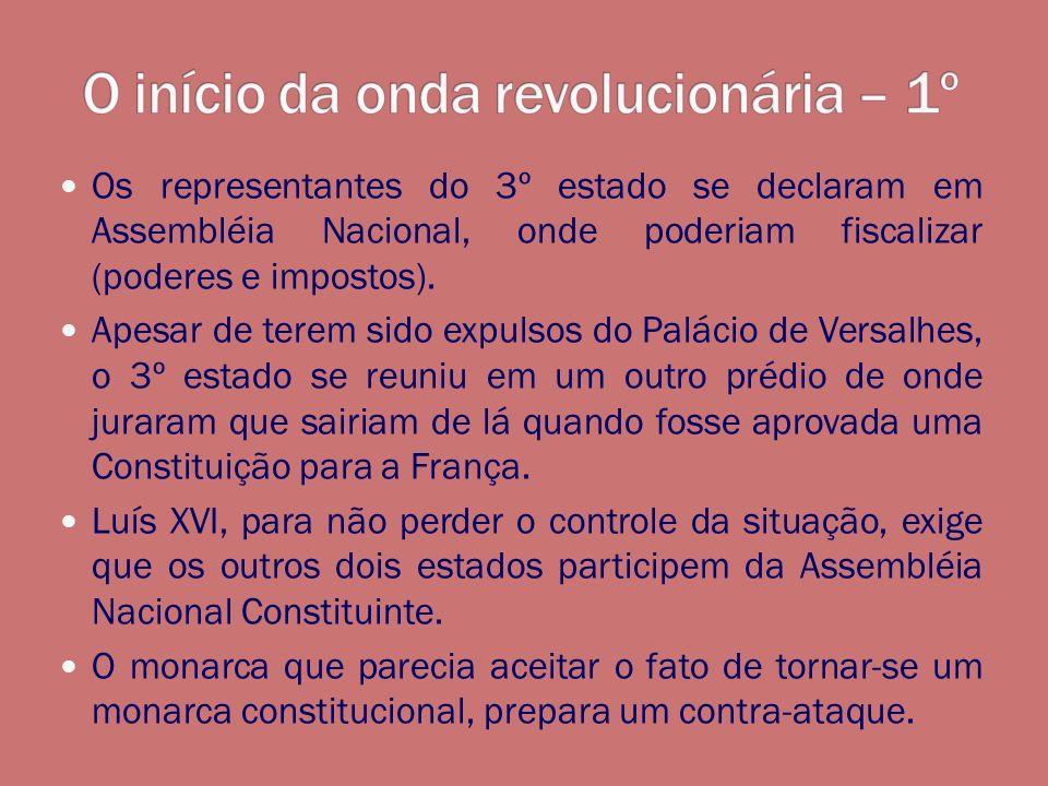 O início da onda revolucionária – 1º