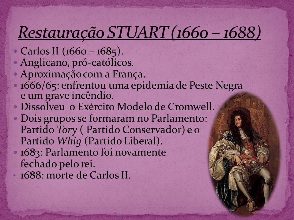 Restauração STUART (1660 – 1688)