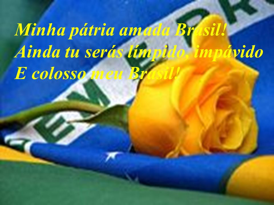 Minha pátria amada Brasil!