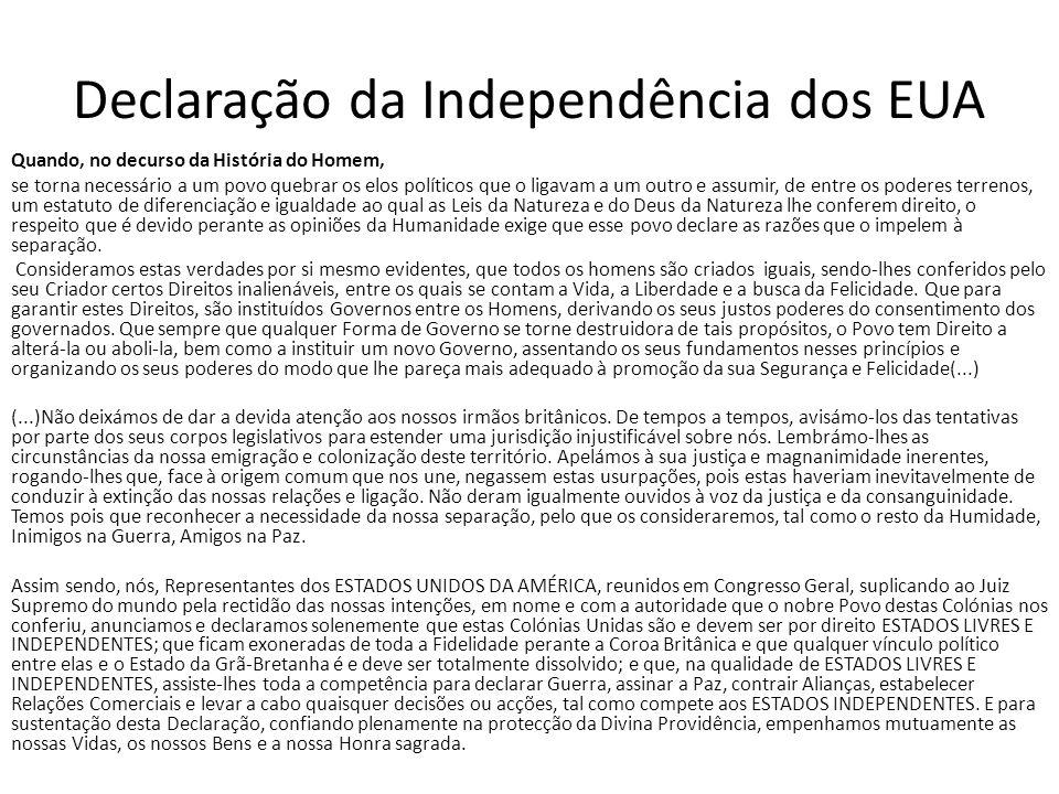 Declaração da Independência dos EUA