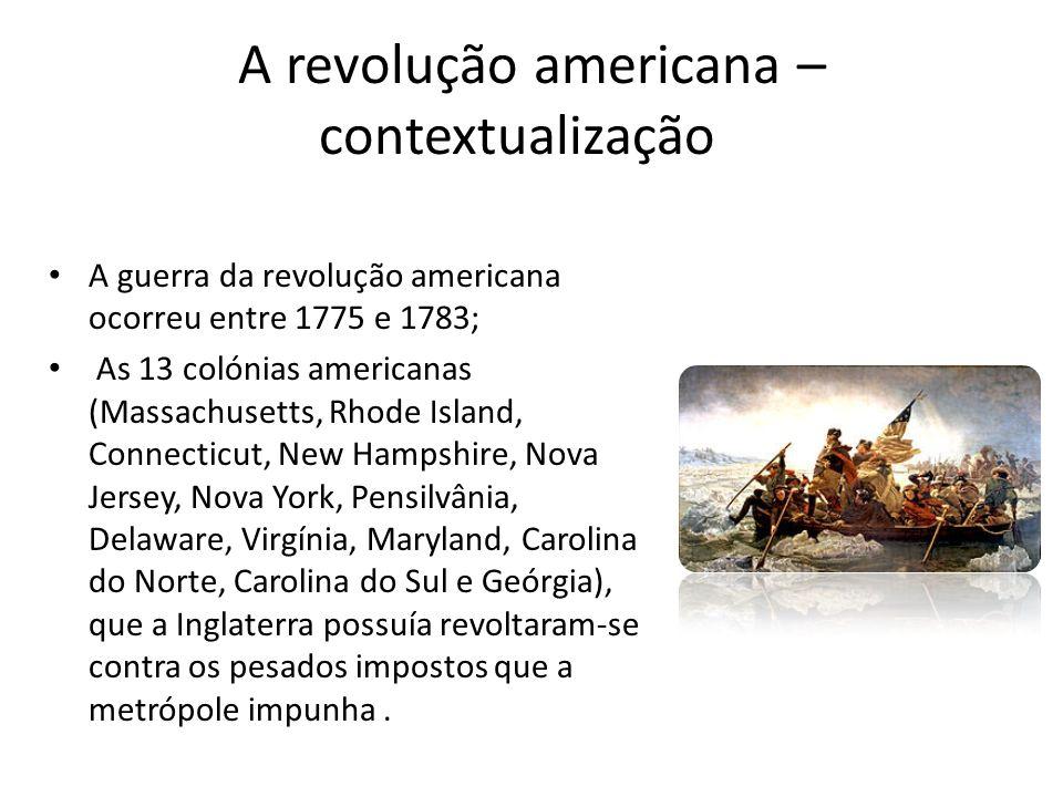 A revolução americana – contextualização