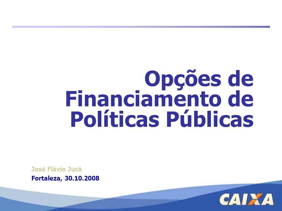 Opções de Financiamento de Políticas Públicas