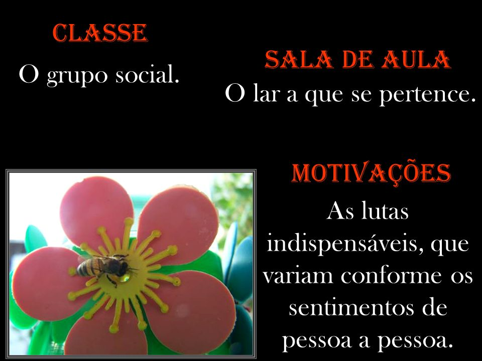 CLASSE SALA DE AULA. O grupo social. O lar a que se pertence. MOTIVAÇÕES.