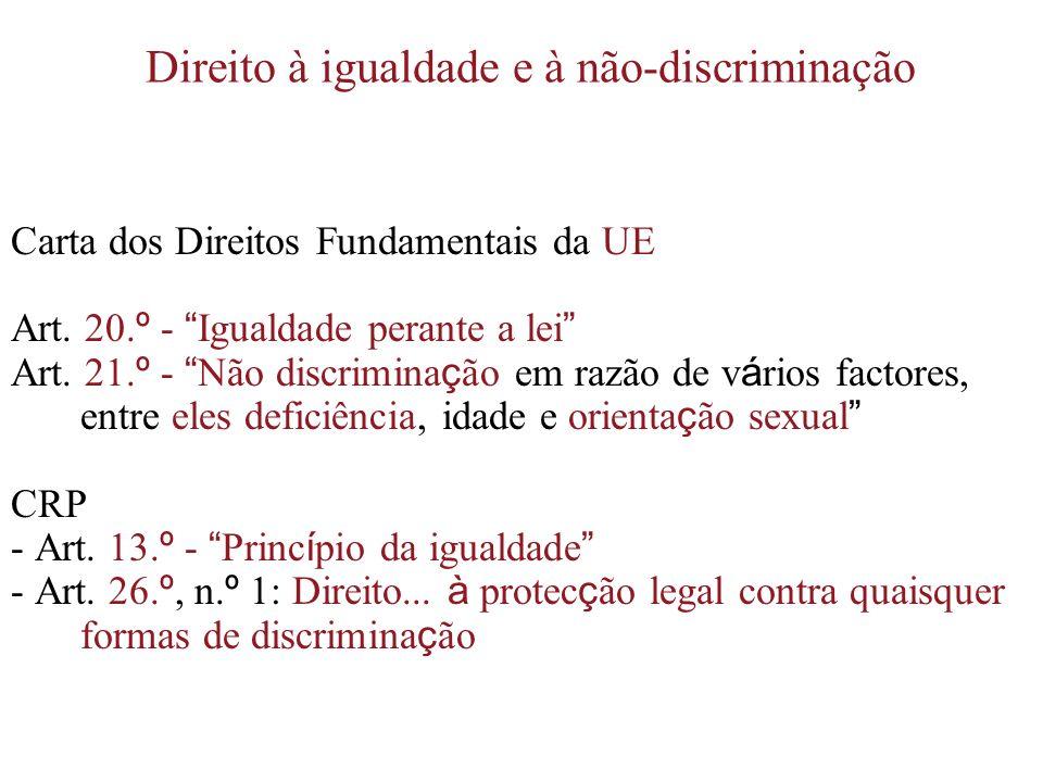 Direito à igualdade e à não-discriminação
