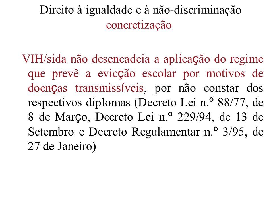 Direito à igualdade e à não-discriminação concretização