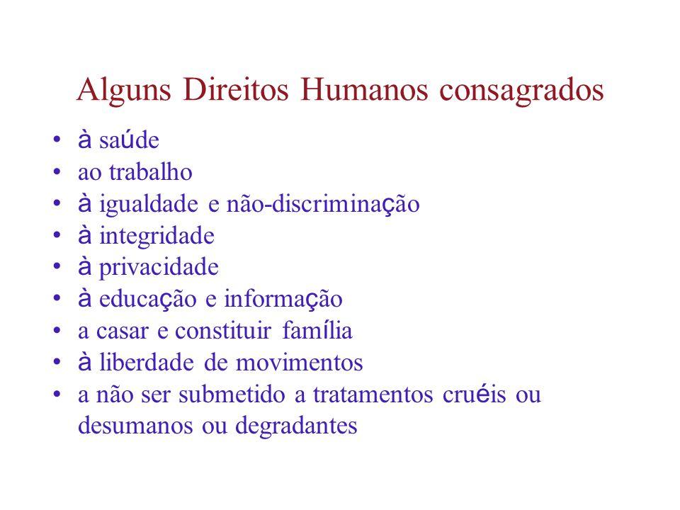 Alguns Direitos Humanos consagrados