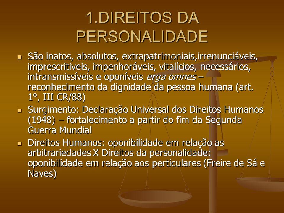 1.DIREITOS DA PERSONALIDADE