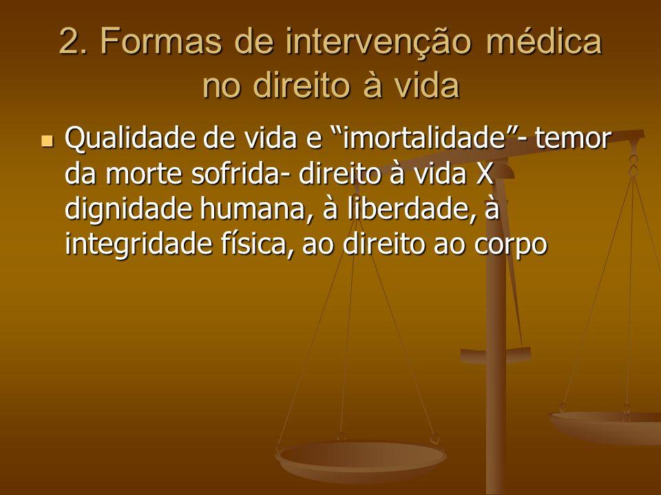 2. Formas de intervenção médica no direito à vida