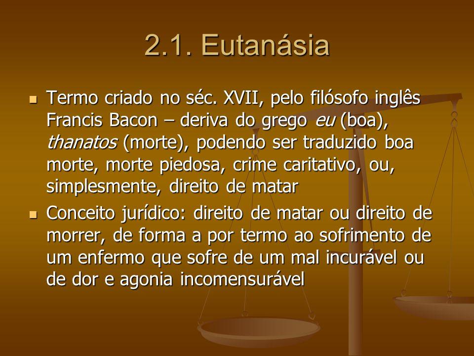 2.1. Eutanásia