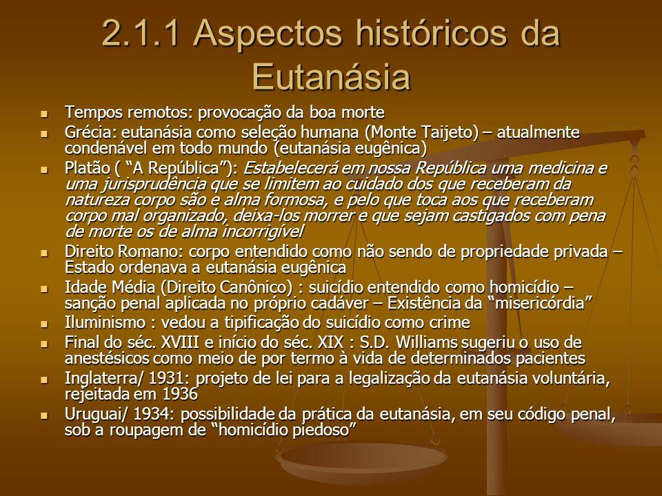 2.1.1 Aspectos históricos da Eutanásia