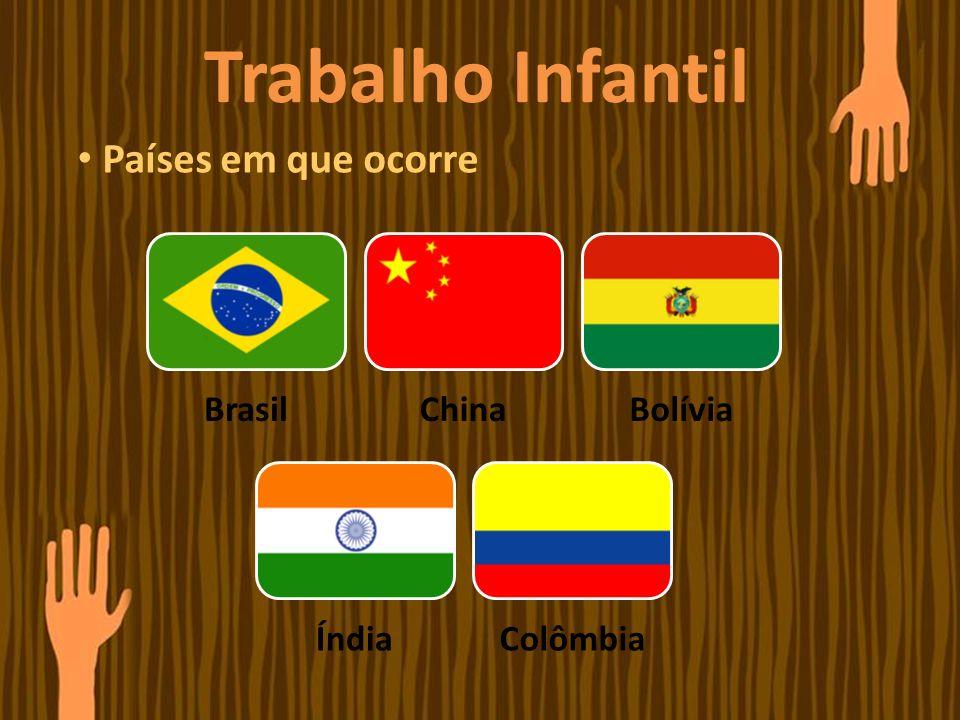 Trabalho Infantil Países em que ocorre Brasil China Bolívia Índia