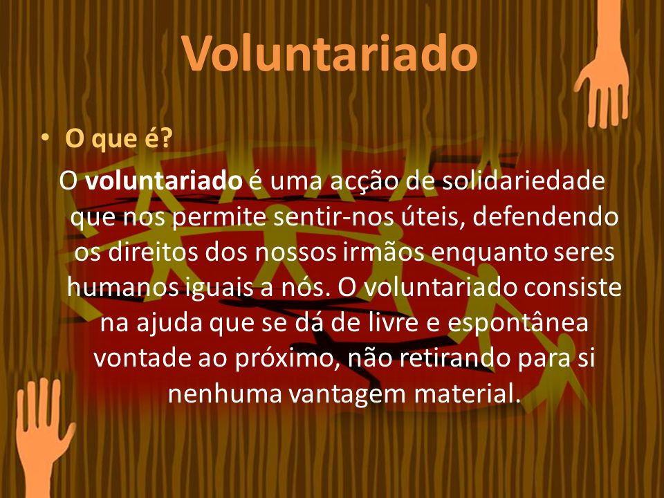 Voluntariado O que é