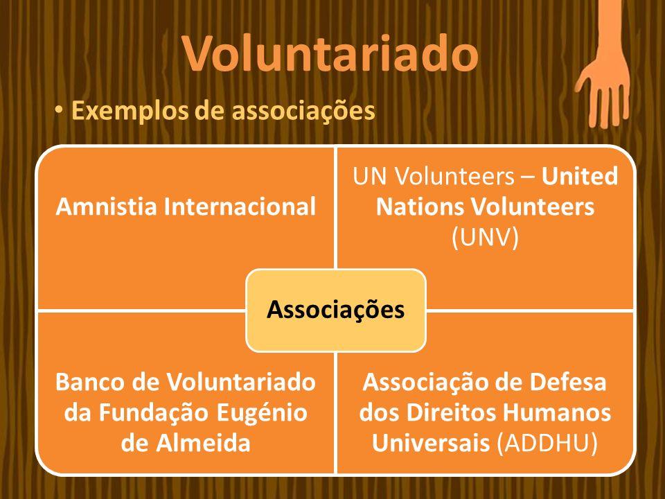 Voluntariado Exemplos de associações Associações