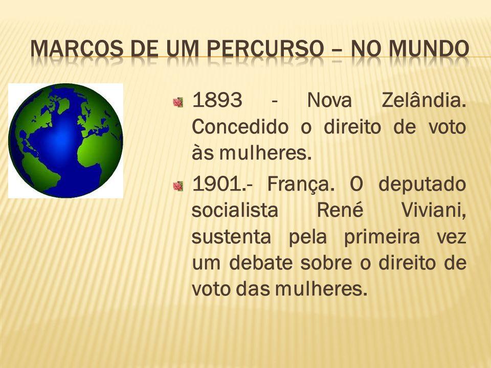 MARCOS DE UM PERCURSO – No Mundo