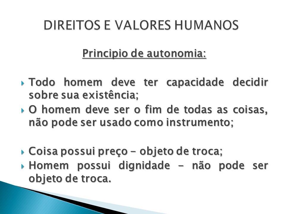 DIREITOS E VALORES HUMANOS