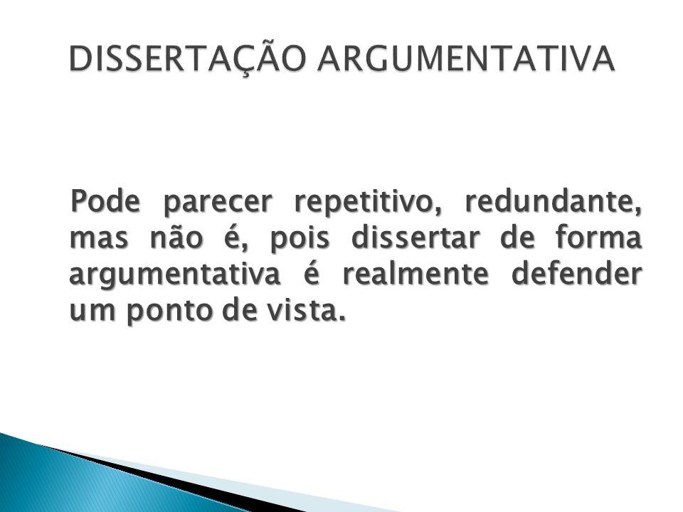 DISSERTAÇÃO ARGUMENTATIVA