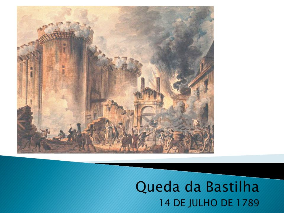 Queda da Bastilha 14 DE JULHO DE 1789