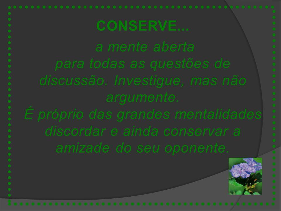 CONSERVE...